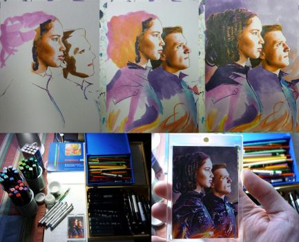 The Hunger Games sketch card WIP by DavidDeb