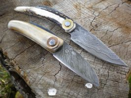 Damascus folders by hellize