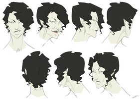 Anubis Hairstyle Elevations by WhiteFoxCub