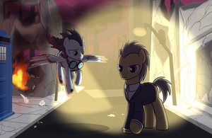 A fateful encounter by drawponies