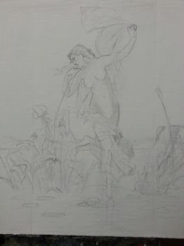 Bouguereau Dawn sketch small by rem-dog