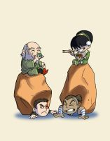 Iroh and Toph picnic by motterhorn