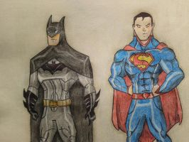 The Dark Knight and the Kryptonian by RanCh000