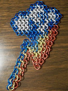 Rainbow Dash's Cutiemark Chainmaille Inlay by lunabellvarga