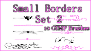 GIMP Small Borders Set 2 by Illyera