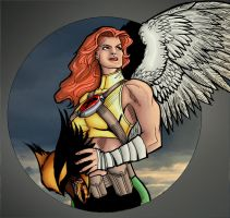 Hawkgirl Colors by JScottColor