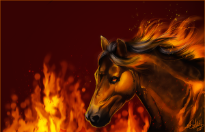 :burning fire: by WhiteSpiritWolf