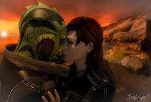 FemShep x Thane- Meet You Across The Sea by Lion-Heart91