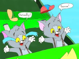 Tom and Tim on a Roller Coaster by ThrillingRaccoon