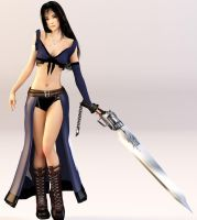 Rinoa heartilly - Squall's Gunblade by XkairiSakura