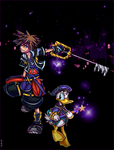 Sora + Donald+Invisible Stairs by trestaure