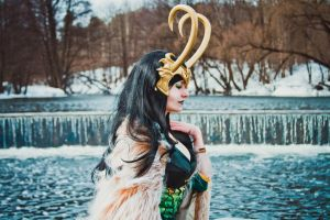 lady loki - frozen waterfalls by NarciSSai