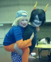 Gamzee and Lil Cal by caseymakara