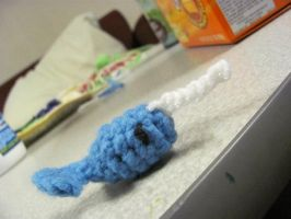 Itty Crocheted Narwhal by the-carolyn-michelle