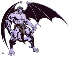 Gargoyles Goliath Color by garnabiuth
