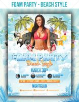 Foam Party - Beach Style - Flyer Template by LouisTwelve-Design