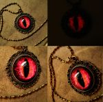 Custom Pendant - Fire Lava - Large Dream Pendant by LadyPirotessa