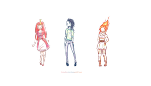Adventure Time Ladies by EmilyRheaArt