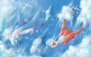 Commission : Latios and Latias by R-nowong