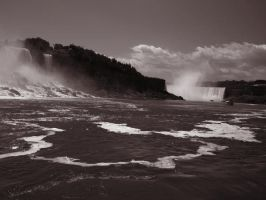 American and Canadian Falls by MagnificentObsession