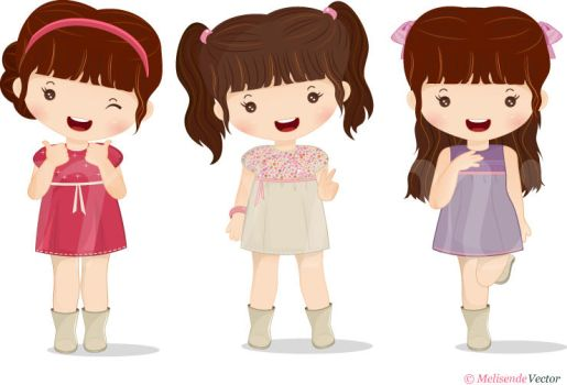 Doll Chibi set by Melisendevector
