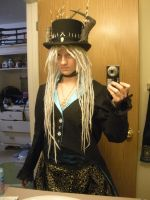 Steampunk witch doctor (without make-up) by Seras-Loves-Master