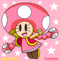 Toadette From Super Mario by AnimeLao809
