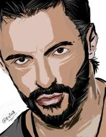 Hugh Jackman by ThelatenightDeviant