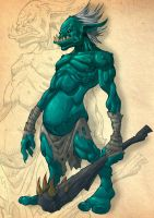 Concept for Game_Troll by DOUGLASDRACO