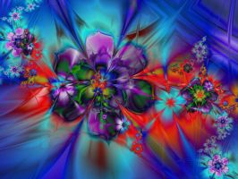 Floral Cascade by janinesmith54