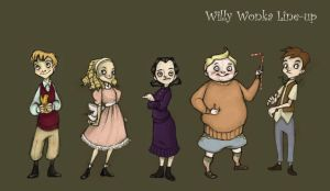 Wonka Kids line-up by Qballthe5th