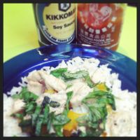 Homemade Basil Chicken and Pineapple Rice by piratesofbrooklyn