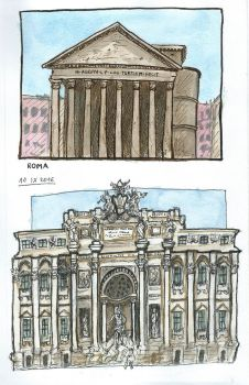 Sketches from Italy: Rome #3 by Oliuszka