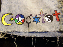 Coexist Shorts by loralye