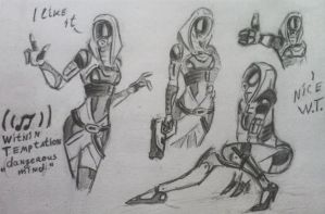 sketches Tali (30) by spaceMAXmarine