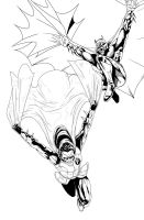 Batman and Robin Inks by darknight7