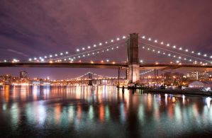 Brooklyn Bridge and Manhattan Bridge by LGMVMNT-PHOTO