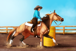 Western Competition - BarrelRacing [DAY1] by Kurooukami
