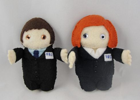 X-Files duo - commission by deridolls