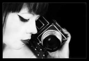 The girl behind the camera by victoriahopkinson
