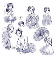 Asian Sketches by GydroZMaa