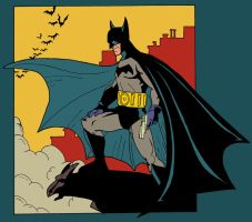 Golden Age Batman by madedd