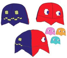 Pac-Ghost Hat Design by Malion