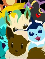 Eevee evolutions by dezbo21