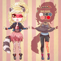 :Custom: Raccoon girl by BlackMayo