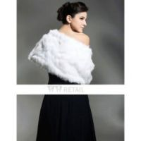 Sleeveless Faux Fur Bridal Wedding Jacket by Kangxiao