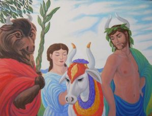 Ariadne and the Sacred Bulls