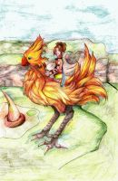 :Of feathers and Al Bhed: by Aika-Hikari122