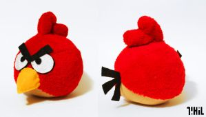 Angry Bird Plush by robotbreath