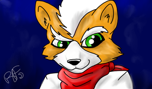 Tablet Test: Fox McCloud by CrazyHuskyArchie